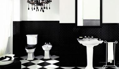 кафель черно-белый в ванной фото