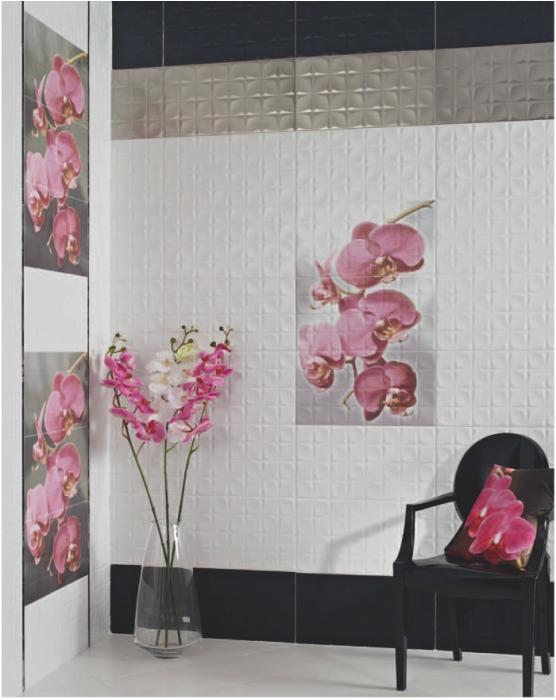 Кафель с орхидеями