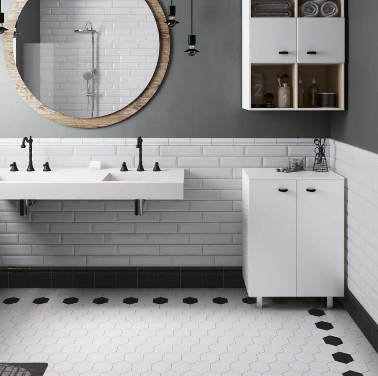 Scale equipe ceramicas for Bathroom design 7x12