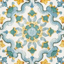 3290P  Cotto Med Caltagirone Blu