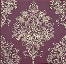 Paisley Decor Rojo Burdeos