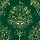 Декор Paisley Decor Verde Botella 20x20