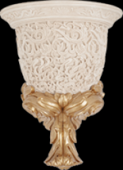 Louvre Wall Lamp Bone Decor