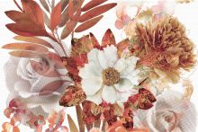 Composicion Savage Flowers Marron 01