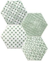 Mosaic Verde Hexagon