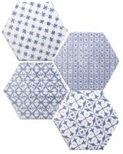 Mosaic Azul Hexagon