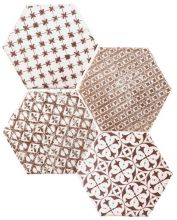 Mosaic Granate Hexagon