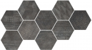 Плитка Hexagon Freeport Black (9 Mix) 24x27.7
