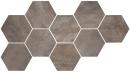 Плитка Hexagon Freeport Brown (9 Mix) 24x27.7