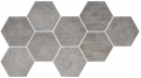 Плитка Hexagon Freeport Grey (9 Mix) 24x27.7