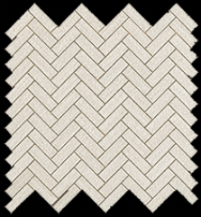 White Herringbone Wall
